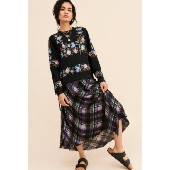 NWOT Nation LTD Georgette Plaid Handkerchief Skirt